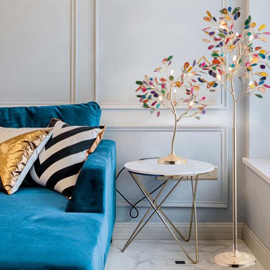 Nordic Modern Creative Color Agate Floor Lamp Living Room Bedroom Sweet Floor Lamp