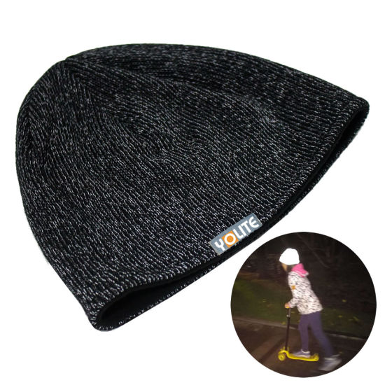 China Free Sample Reflective Beanies Safety Hat for Sport Factory