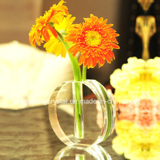 China High Quality Beautiful Crystal Vase For Wedding Flowers