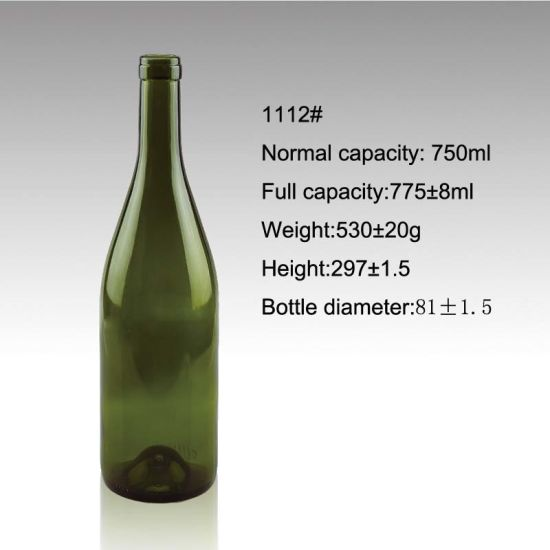 Food Grade Red Wine 750ml Screw Cap Glass Bottles Manufacture