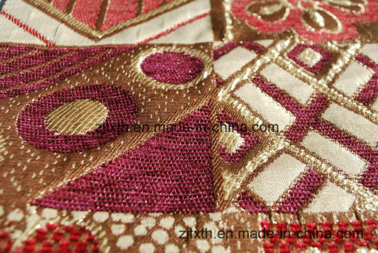 Classical Pattern Upholstery Chenille Sofa Fabric (FTH31142) pictures & photos