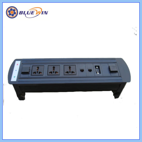 China Flipping Electric Socket With Rj And VGA For High Class - Conference table electrical sockets