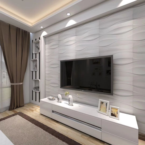 China 500mm Width Indoor Plastic Ceiling Wood Decorations Waterproof And Fireproof 3d Color Series Pvc Wall Panel China Wall Panel Decorations Fireproof 3d Wall Panel