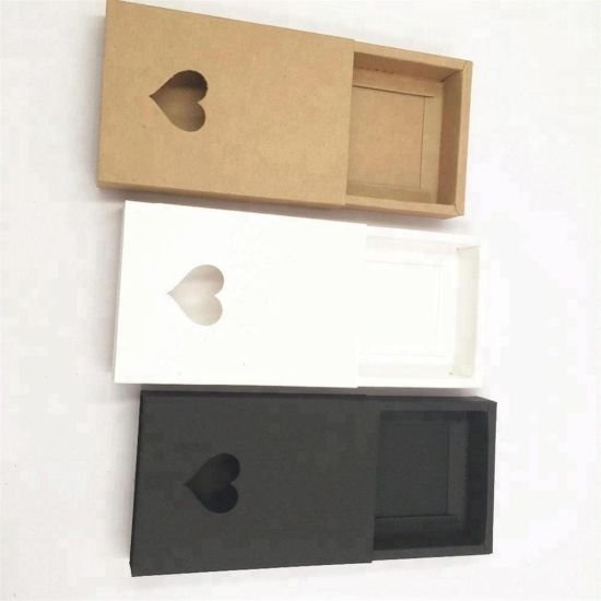Customized Slide Drawer Kraft Paper Drawer Window Box Sliding Cardboard Gift Packaging Box