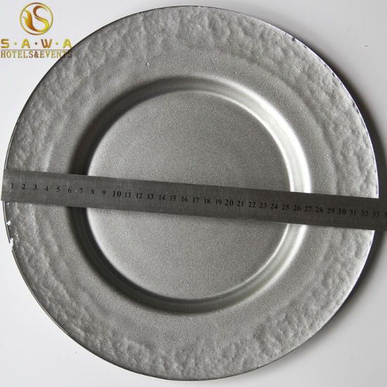 China Stackable And Durable Charger Plate Used For Dinner Or Wedding