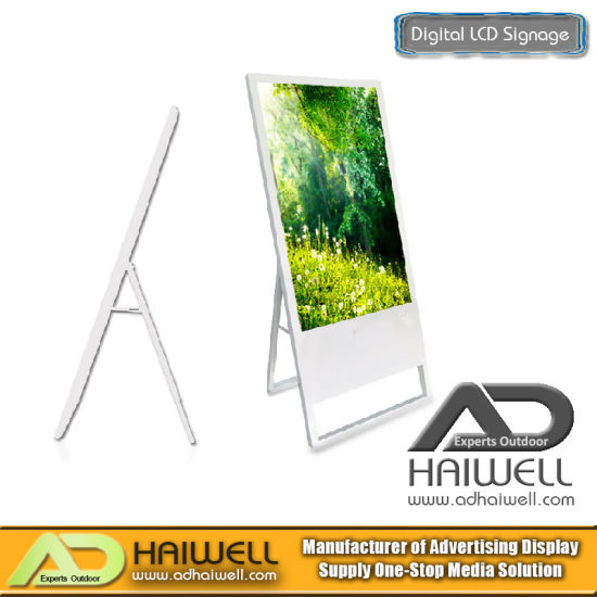"43"" Ultra Slim Portable Digital Poster Indoor LCD Display Ads Boards pictures & photos"