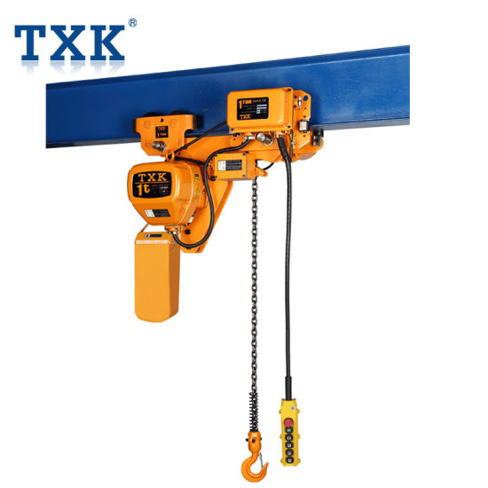1t Txk Brand Low Headroom Electric Chain Hoist with Schneider Contactor