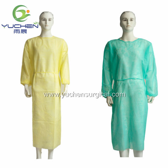 Surgical Gown Non Sterile Disposable Isolation PP Nonwoven Gown for Hospital Disposable