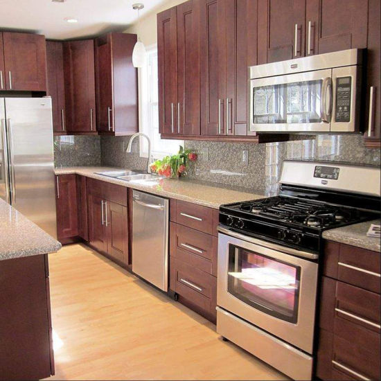 High Quality Solid Wood Wholesale Walnut Flat Pack Kitchen Cabinets