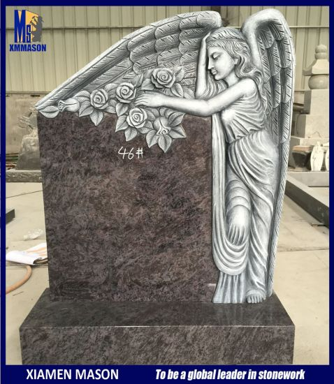 3D Weeping Angel Etching Antique Headstones for Sale pictures & photos