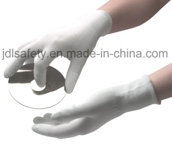 Industrial Safety Working PU Coated Black Nylon Work Glove pictures & photos