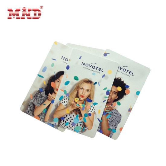 Mdhc1201 Custom PVC RFID Hotel Key Cards Tk41 Chip with 64 Bits 13.56MHz