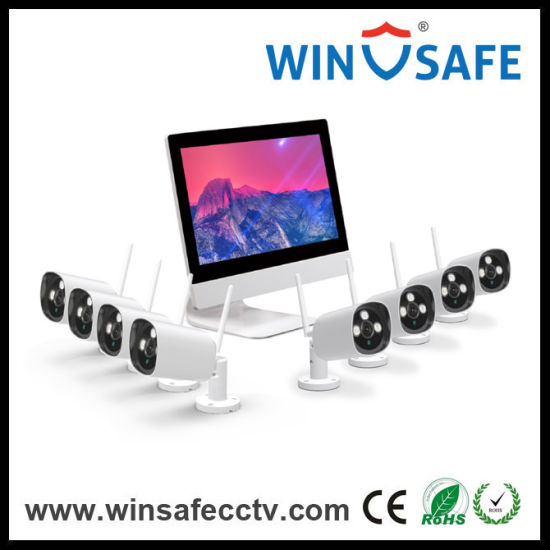 8CH Wireless Bullet and Dome Camera NVR Kits