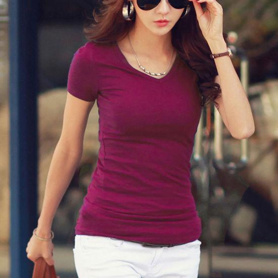 4f196230 China Women Customized White Cotton T-Shirt Apparel Manufacturer ...