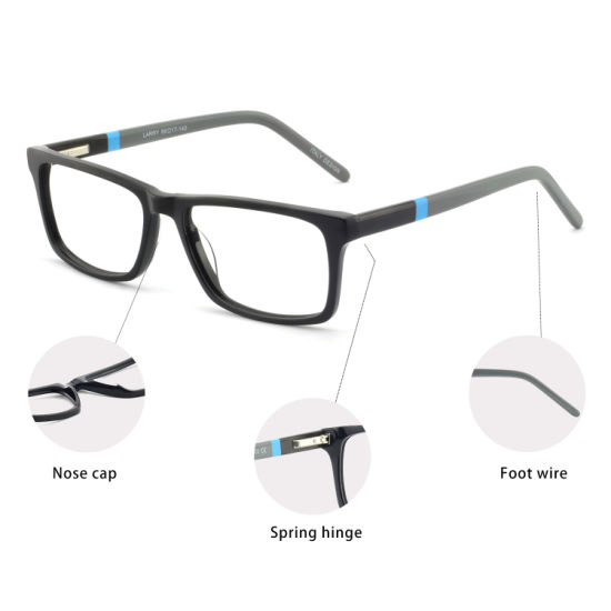 f8e767abba0 Hot Sale Products Optical Glasses Acetate Rectangular Eyeglasses Frames for  Women and Men