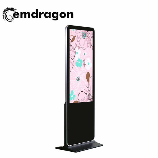 43 Inch Narrow Bezel Floor Stand Digital Signage 3G Ad Player Outdoor Advertising Digital Display Screens Fiber Glass Kiosk LCD Digital Signage pictures & photos