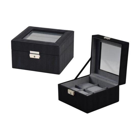 2018 New Styles 6 Slots Square Leather Watch Display Box Packaging (8767) pictures & photos