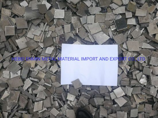 Factory Price Nickel Plate, Nickel Scrap Pieces 99.96%Min on Sale
