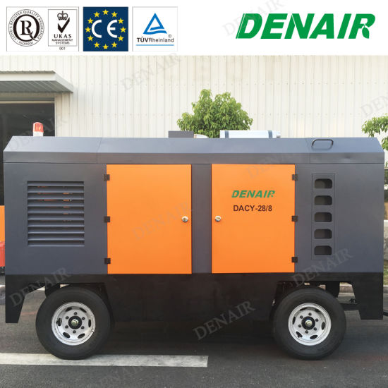 Industrial Two Stage Diesel Engine Driven Portable Rotary Screw Type Air Compressor pictures & photos