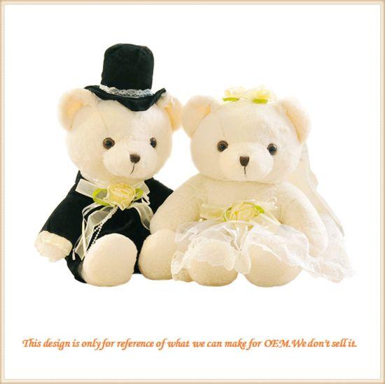 Custom Made Couple Teddy Bear Wedding Gift for Friends