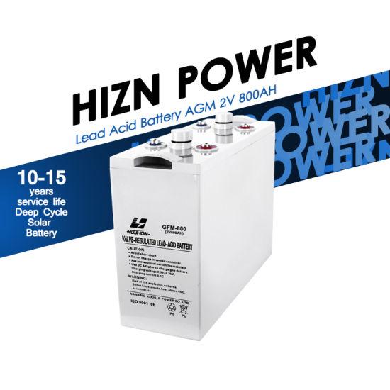 Manufacturer Wholesale Lead Acid Battery 2V 800ah 1000ah 1200ah 1500ah AGM Battery