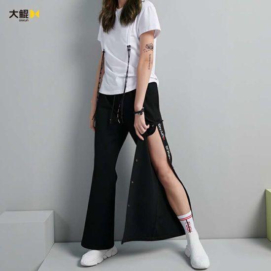 Brand Dakun Fashion Full Button Slitting Pants