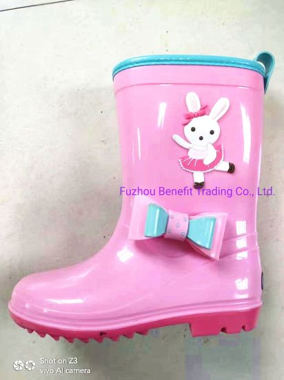Customized Bow Rain Shoes for Kids pictures & photos