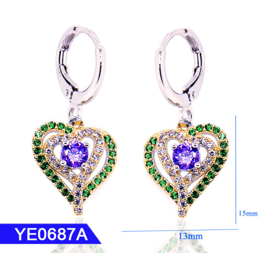 New Arrival Designer Jewellery 925 Silver or Brass Fashion Heart Earrings for Girls pictures & photos