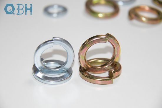 DIN 127 High Quality Carbon Steel Spring Washer, Zinc