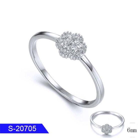 Fashion Handmade Jewelry 925 Sterling Silver or Brass Pave Diamond Ring for Women pictures & photos