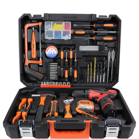 Power Tool Set 47PCS Rechargeable Lithium Electric Drill Household Tool Set