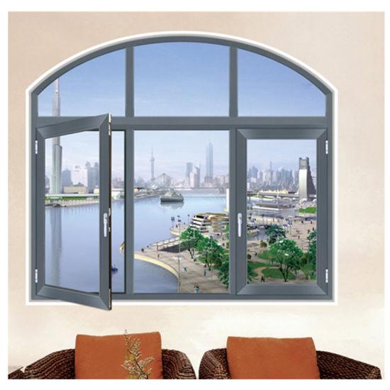 Double Frame Aluminum Casement Window Mosquito Screen Window