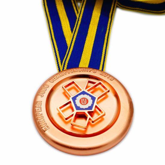 Wholesale Personalised Custom Design Unique Religious Copper Metal 3D Military Championship Medals with Ribbon (FTMC2038)