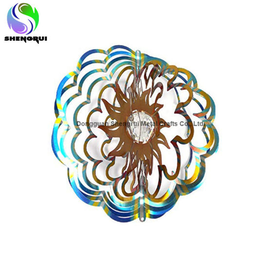Multi Colored Wind Spinner Hanging Garden Decoration Wind Spinner