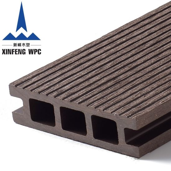 Anti-Slip Wood Plastic Composite WPC Outdoor Decking Flooring