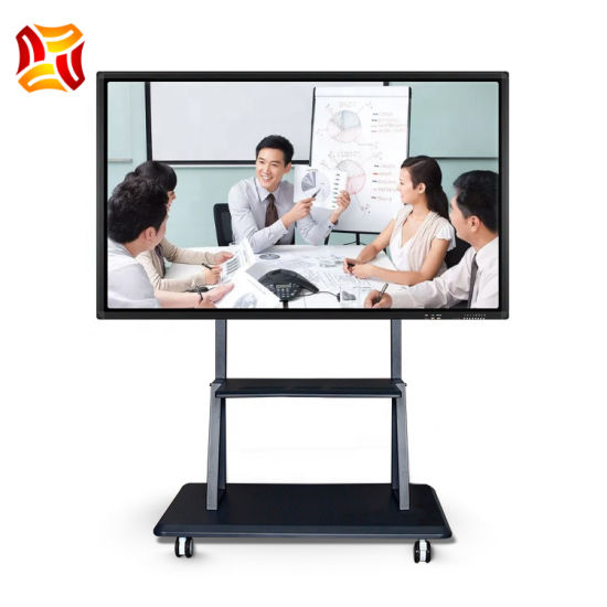 All in One LCD Touch Screen Display Smart Board Electronic Equipment Interactive Whiteboard LCD Panel for Meeting and Teaching