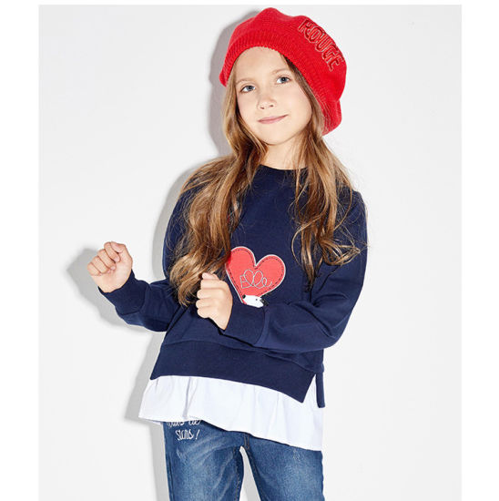 High Fashion Quality Customize Wholesale Casual Baby Children Kids, Girls Pullover Clothes