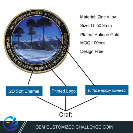 Maker Custom Metal Art Craft Printing Epoxy Promotional Gift History Souvenir Coins for Collectors