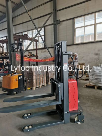 Battery Electric Power Stacker, Semi Electric Forklift, 1000kg Full Electric Stacker