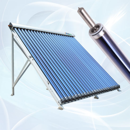 Pressurized Heat Pipe Evacuated Tube Solar Collector with Heat Pipe Condensor Diameter 24mm pictures & photos