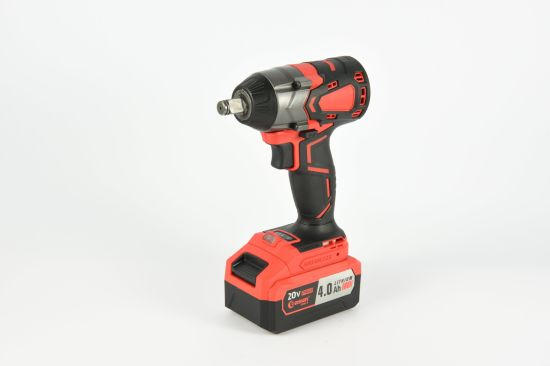 """Easun 20V Industrial Lithium Brushless Impact Wrench 2.0/4.0ah IWK02BL 1/2"""" Square 420Nm."""