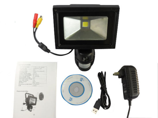 Flood Light PIR DVR 5.0m Pixel Activated Auto Lighting Digital Camera Security Light pictures & photos