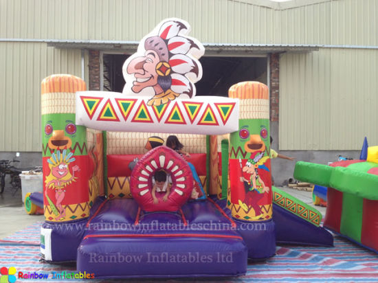Mini Inflatable Cartoon Bouncer House for Kids pictures & photos