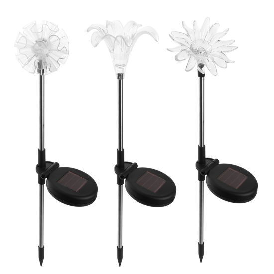 Solar Stake Lights, Garden Patio Outdoor Life-Size Flower Figurines LED Dandelion & Lily & Sunflower - Color Changing Set of 3 Esg12524 pictures & photos