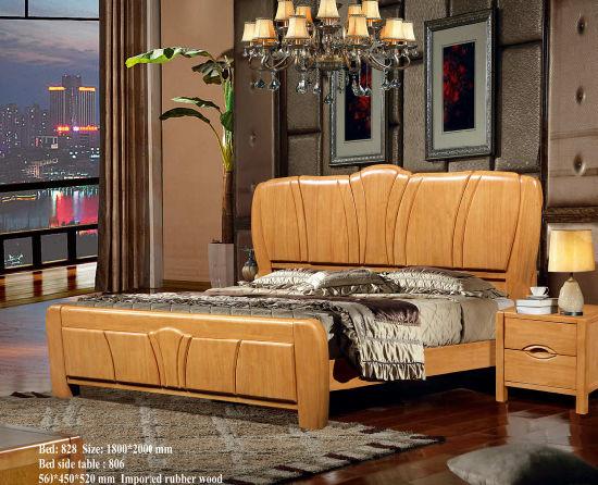 Wooden Hotel Bed, Best Bedroom Furniture Set, China Bed (828)