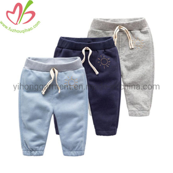 Winter French Terry Fleece Jeans Trousers with Custom Logo