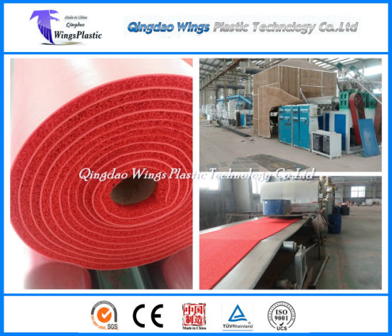 Plastic Floor Mat Production Line, PVC Materials Carpet Making Machine pictures & photos