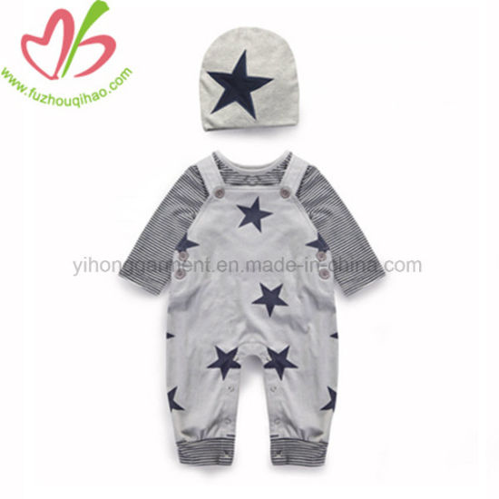 602f330ed China Spring Autumn Baby Boy Romper Sets with Hat - China Toddler ...