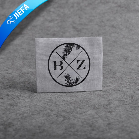 High Density Custom Damask Woven Label for Garment pictures & photos