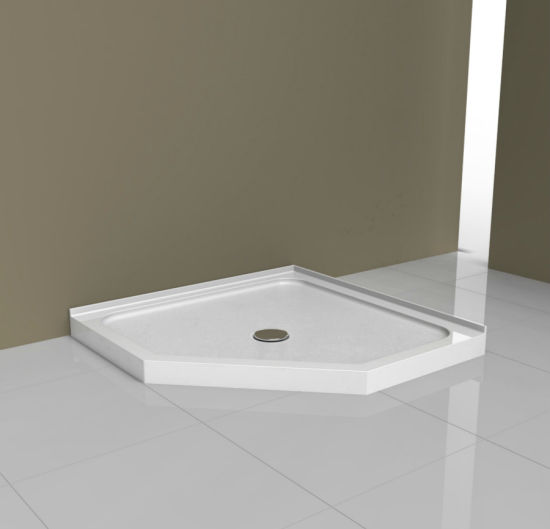 Neo Angle Acrylic Shower Tray With Flange